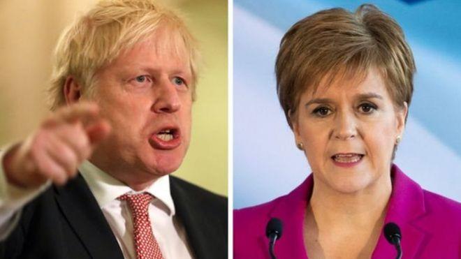 İngiltere Başbakanı Boris Johnson ve İskoçya Özerk Yönetimi Başbakanı Nicola Sturgeon