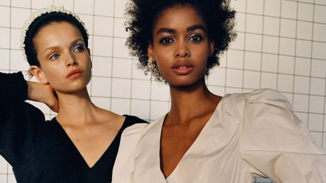 Zara models in the autumn winter 2019 collection