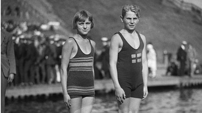 Nadadoras en Amberes 1920