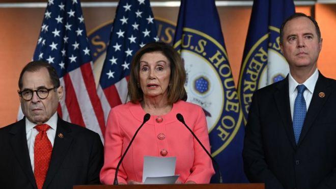 Pelosi, Nadler y Schiff