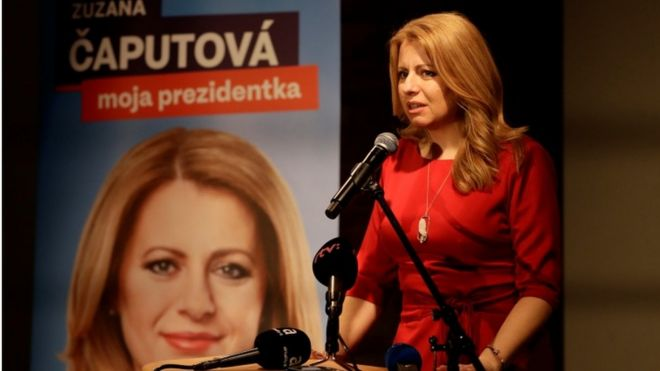 Anti-corruption candidate Zuzana Caputova leads Slovak poll - BBC News 6d1ea43f723