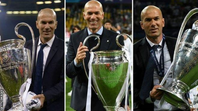Zinedine Zidane ni Meneja pekee aliyewezesha timu yake kunyakua mataji matatu mfululizo