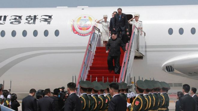 Kim Jong-un arrives in Dalian