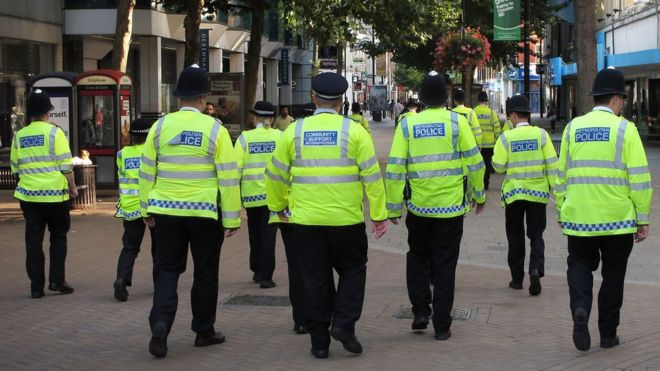 Police officers in Croydon