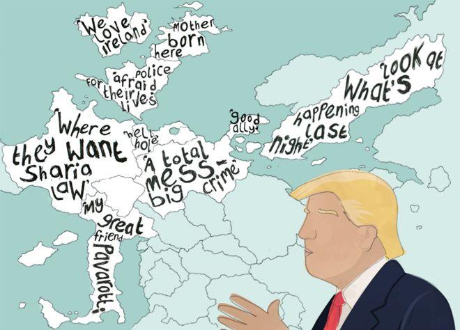 Trump kama xishoodo in uu soo bandhigo aragtida uu ka qabo dalal badan oo caalamka ah, haddaba maxaaa isna laga aaminsan yahay?