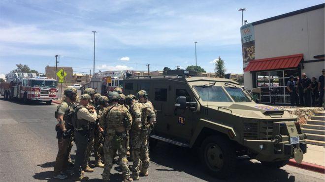 پلیس مرکز خرید سیلو وستا، محل تیراندازی را قرق کرده است