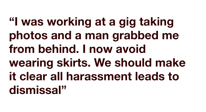 Quotes refering to sexual harassment