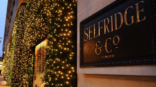 Selfridge's Christmas shop window
