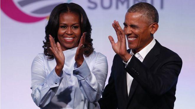 Barack and Michelle Obama to make TV and films for Netflix - BBC News