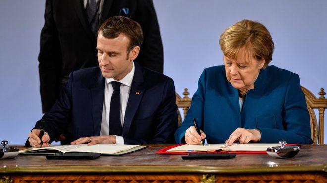 Almanya ile Fransa işbirliği antlaşması imzaladı (23 Ocak2019 )