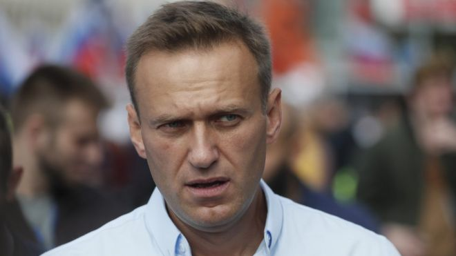 Alexei Navalny at rally in Moscow, 20 July
