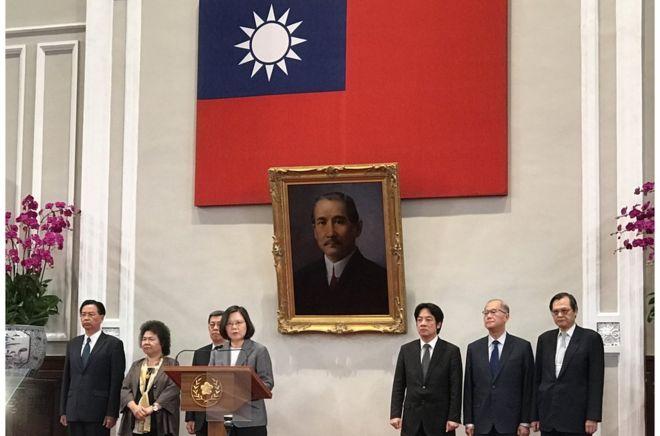 台灣與薩爾瓦多斷交後,蔡英文總統召開記者會