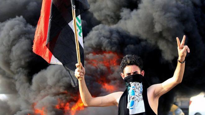 اگر چه به نظر میرسد اعتراضات تشکیلات هماهنگگننده ای ندارد اما این بزرگترین ناآرامی در عراق از زمان بر سر کار آمدن دولت آقای مهدی است