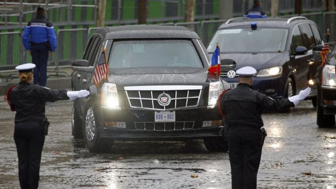 President Trump's Cadillac limousine