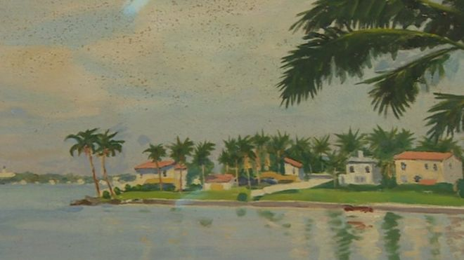 Churchill Painting Of Miami Beach Sold For K At Auction BBC News - Painting miami