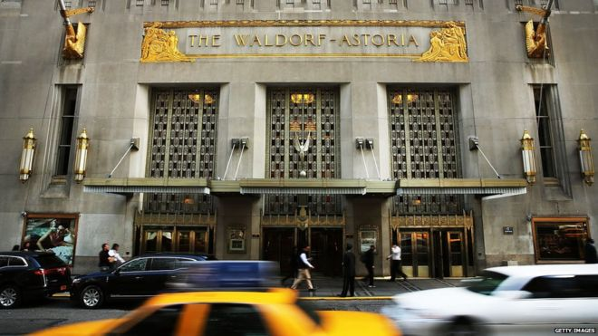 New York's famous Waldorf-Astoria hotel