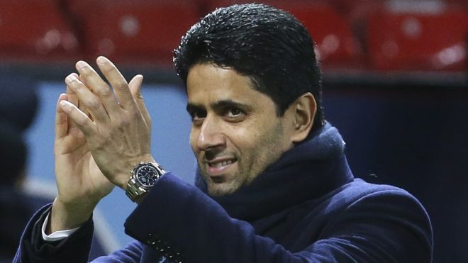 PSG president,  Nasser Al-Khelaifi, has been charged with athletics corruption