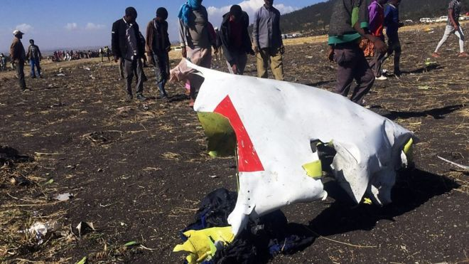 Ethiopian Airlines wreckage