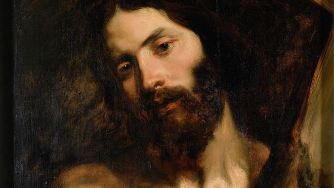 Jesus Cristo na cruz, em imagem do Hulton Fine Art Collection.