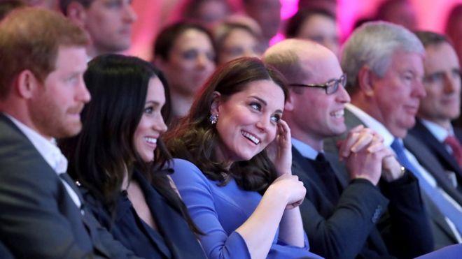 Принц Гарри, Меган Маркл и герцог и герцогиня Кембриджские