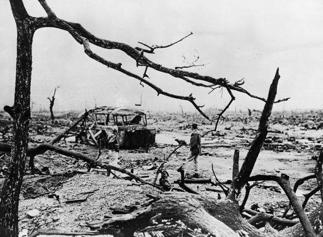 La devastación de Hiroshima