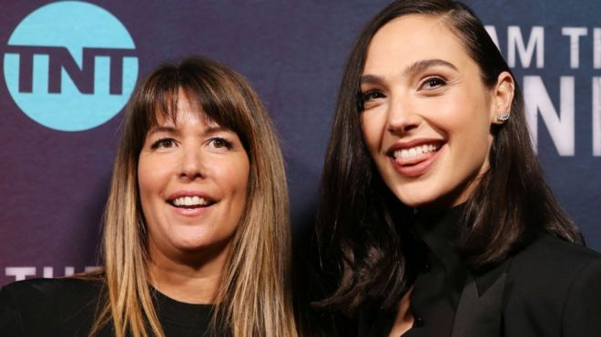 Wonder Woman director Patty Jenkins (left) with actress Gal Gadot