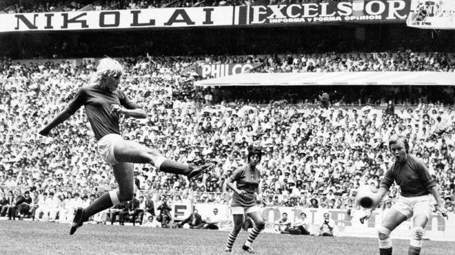 cbbb16d00 Denmark s Lis Lene Nielsen shoots at goal in the 1971 Women s WC Final in  the Azteta