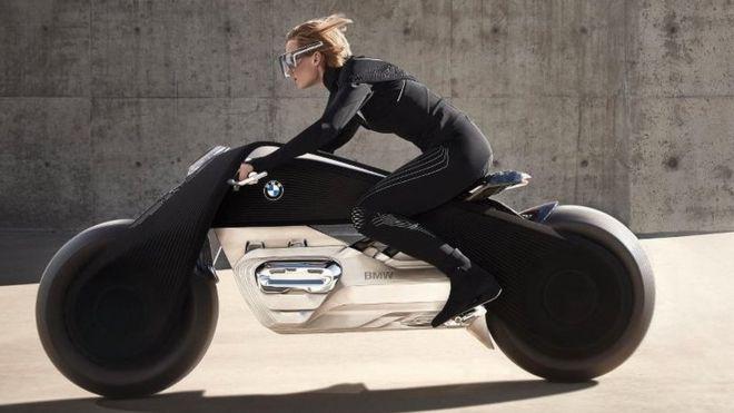Así es la motocicleta del futuro, según BMW: sin casco, sin caídas y ...
