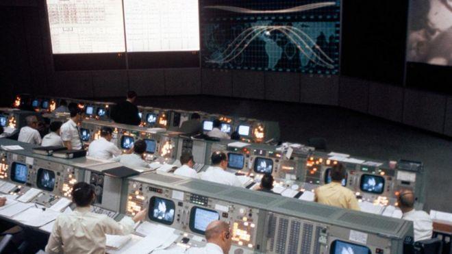 Sala de controle da Nasa