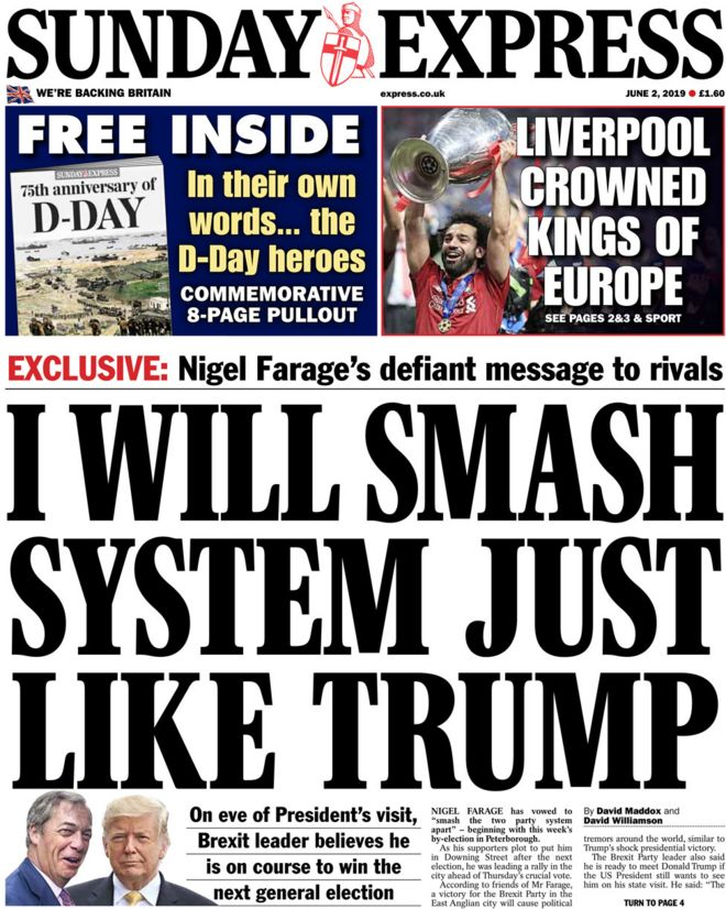 Image result for front page sunday express