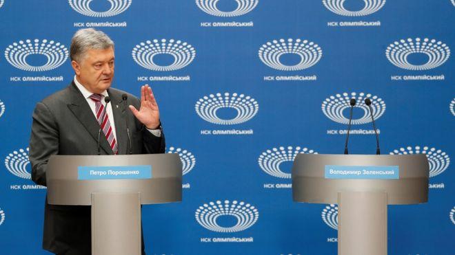 مناظره با تریبون خالی در انتخابات اوکراین