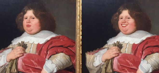 Grumpy artworks given a smiley makeover with FaceApp - BBC News