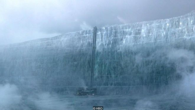 Game of Thrones features a continent-spanning wall designed to keep out the wild people and White-Walker zombies from civilisation