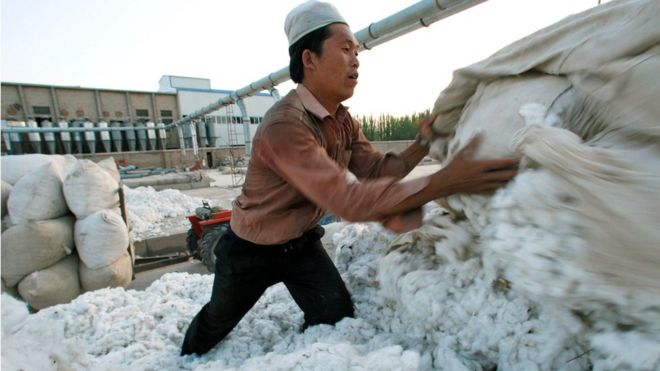 The US is to block key exports from China's Xinjiang region due to allegations that they are produced with forced labour,.