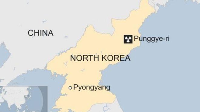 Tetemeko la ardhi lenye ukubwa wa 3.4 katika vipimo vya Ritcher limesikika nchini Korea Kaskazini.