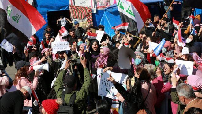 تظاهرات زنان در عراق