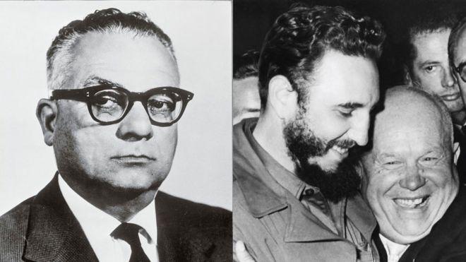 Rómulo Betancourt, Fidel Castro e Nikita Khrushchev