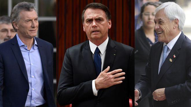 Macri, Bolsonaro y Pinera