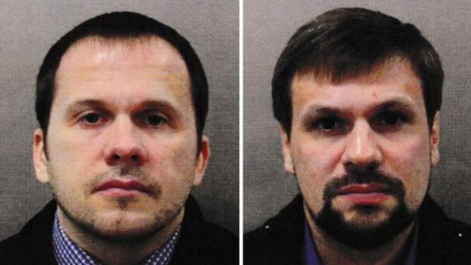 دو نفری که عکسهایشان به نام الکساندر پتروف و روسلان بوشیرف معرفی شده اند
