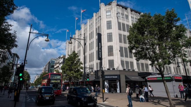 ca46bffdc5cf House of Fraser's flagship London store saved - BBC News