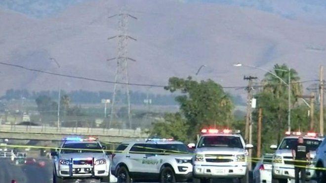 پلیس در بیکرزفیلد کالیفرنیا