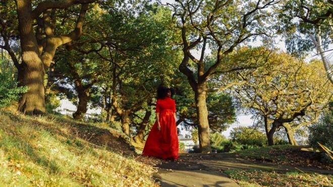 Elsa James recreated Princess Dinubolu's journey across Southend for an art project