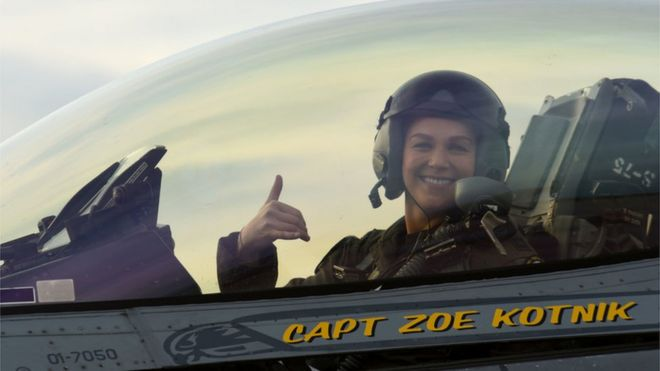 Zoe Kotnik: First female F-16 demo commander out after two