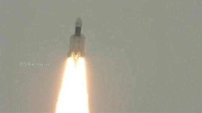 پس از یک هفته تعویق، هند چندرایان-۲ را به ماه فرستاد
