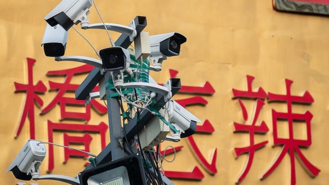 Cámaras en Pekín.