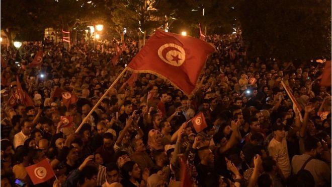 تظاهرة تونسية