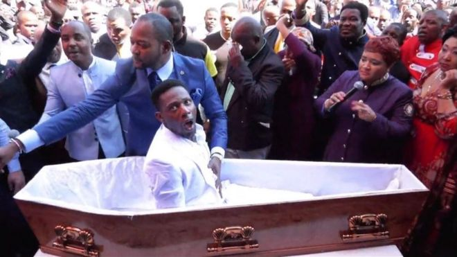 South Africa funeral firm to sue pastor for 'resurrection