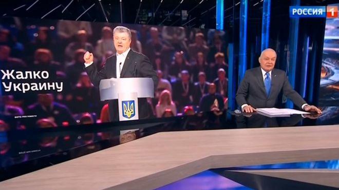 """Студия """"Вестей недели"""" с фото Порошенко"""