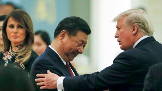 Tổng thống Mỹ Donald Trump gặp Chủ tịch Trung Quốc Tập Cận Bình ở Bắc Kinh năm 2017