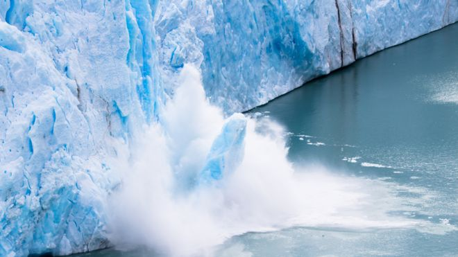 Colapso de hielo en la Antártica